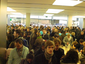 The ecstatic crowd inside the Apple Store Munich