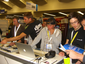 People checking out djay at Macworld 2009